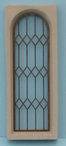 'Stone' Mullion Windows - 1/24th Scale - Complete