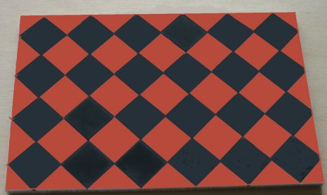 Black & Dark Red Square Quarry Tiles - Dolls House