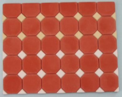 Terracotta Octagonal Floor Tiles - Dolls House