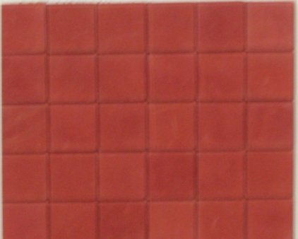 Dark Red Square Quarry Floor Tiles - Dolls House